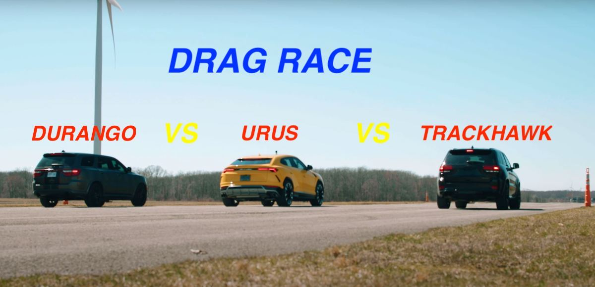 Dodge Durango vs. Lamborghini Urus vs. Jeep Trackhawk