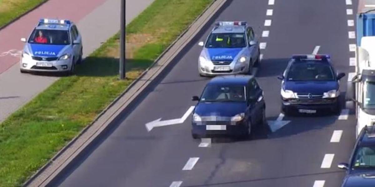 Polska policja goni kierowcę