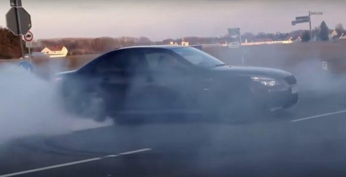BMW M5 e60 burnout