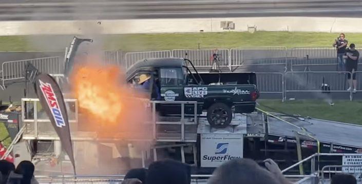 Dodge RAM diesel wybuch