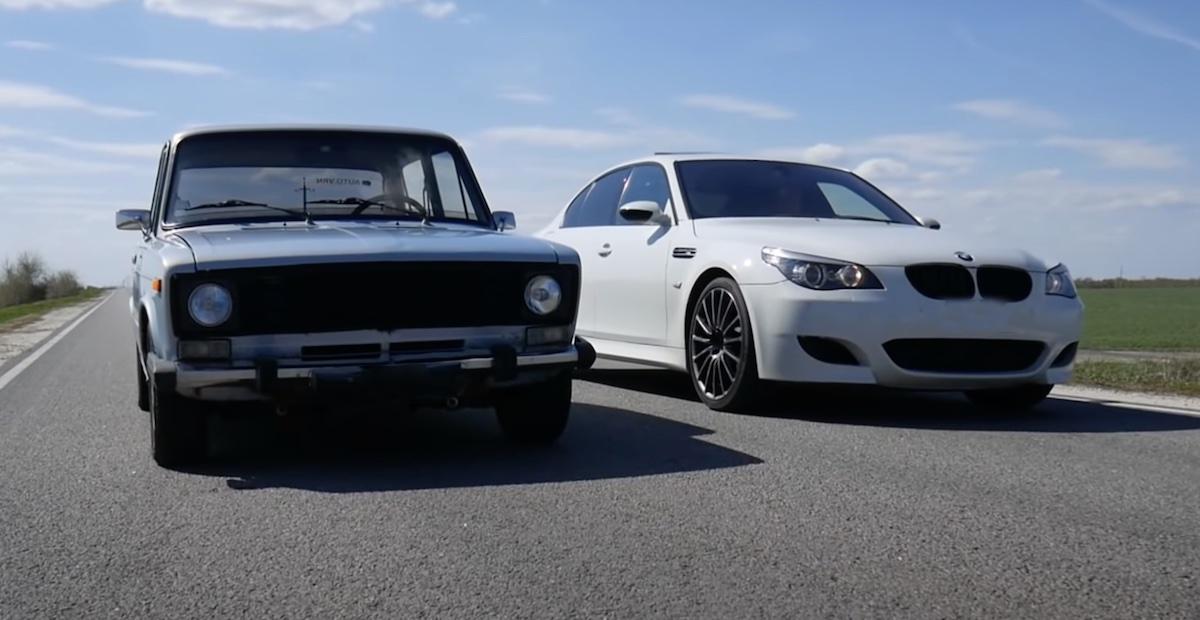 Lada 2106 vs BMW M5 e60