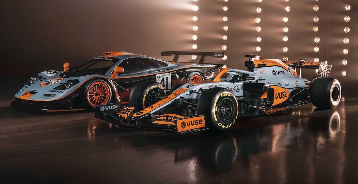 McLaren MCL35M i McLaren F1 GTR Gulf