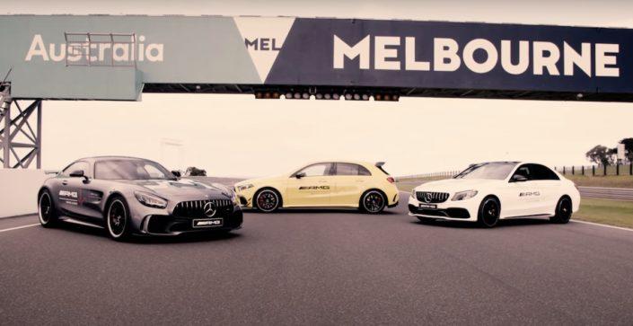 Mercedes-AMG GT R vs. Mercedes-AMG A 45 S 4MATIC+ vs. Mercedes-AMG C63 S