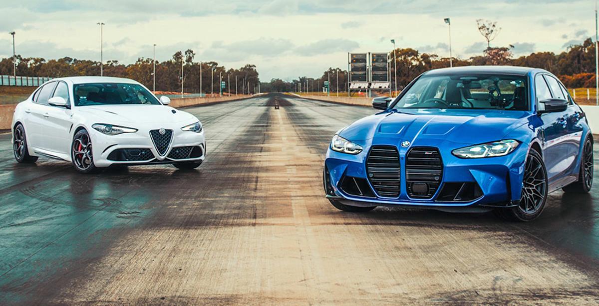 BMW M3 Competiton G80 vs Alfa Romeo Giulia Quadrifoglio