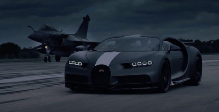 Bugatti Chiron vs. odrzutowiec