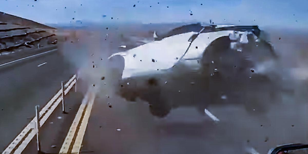 Nissan 350Z wypadek