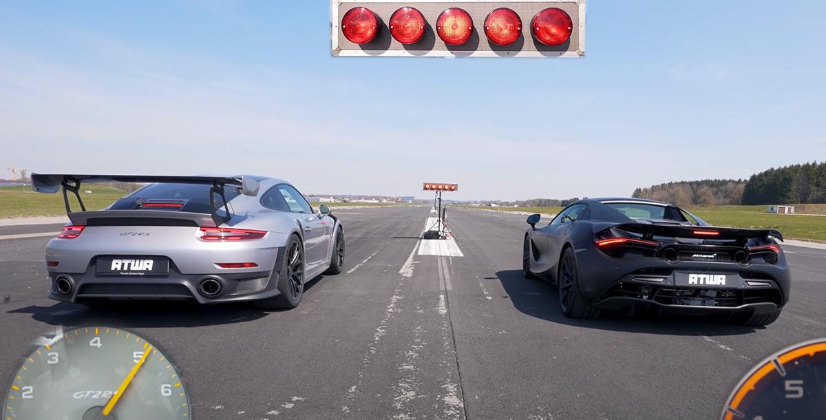Porsche 911 GT2 RS 991 vs McLaren 720S