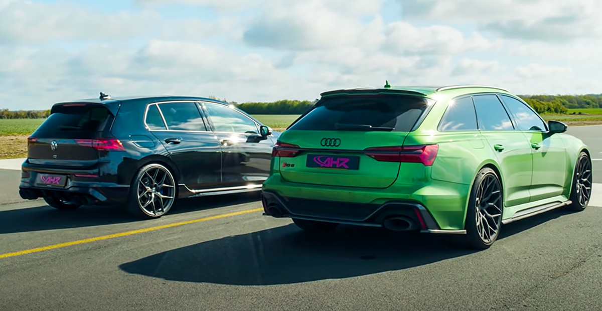 Volkswagen Golf Mk8 R vs Audi RS6 C8