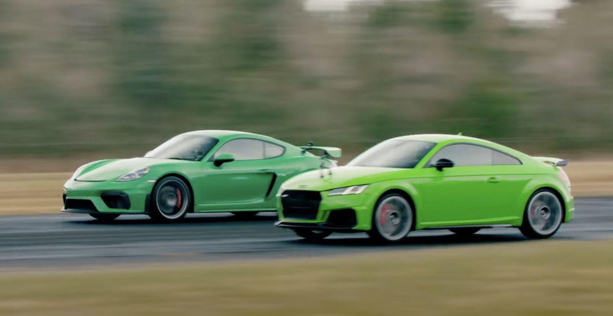 Audi TT RS vs Porsche 718 Cayman GT4