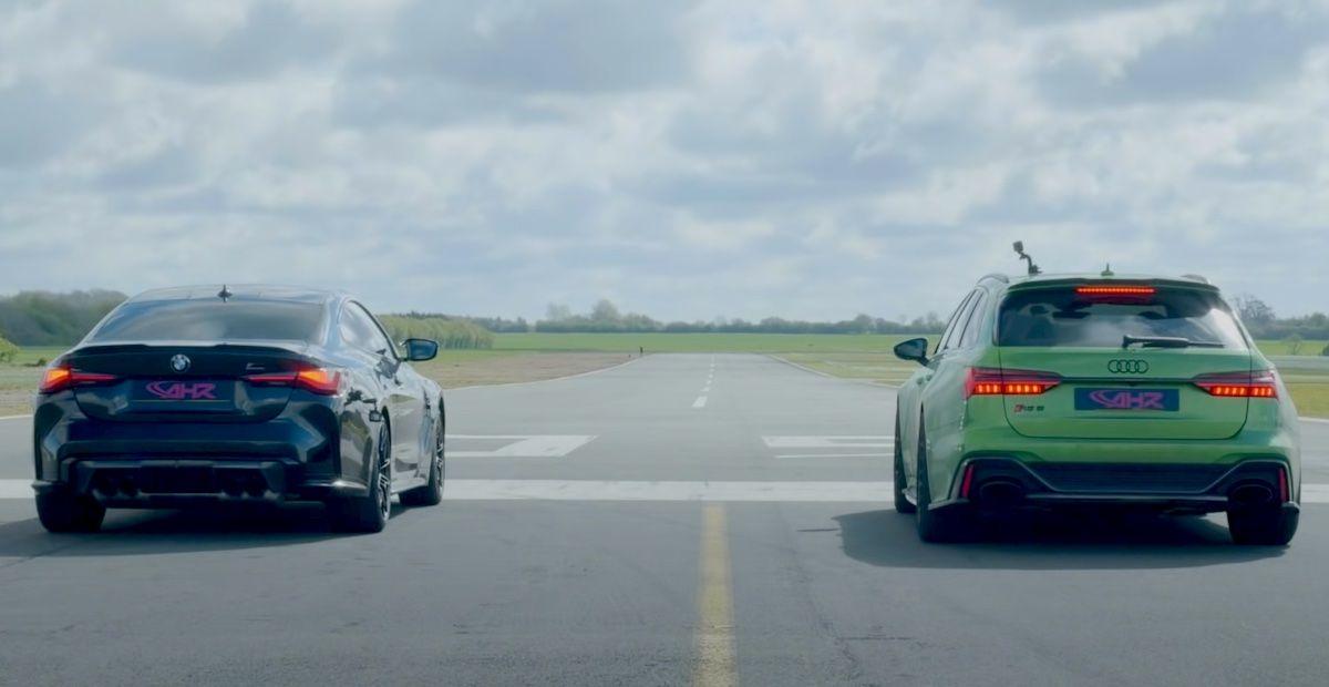 BMW M4 Competition G82 vs Audi RS6 Avant C8
