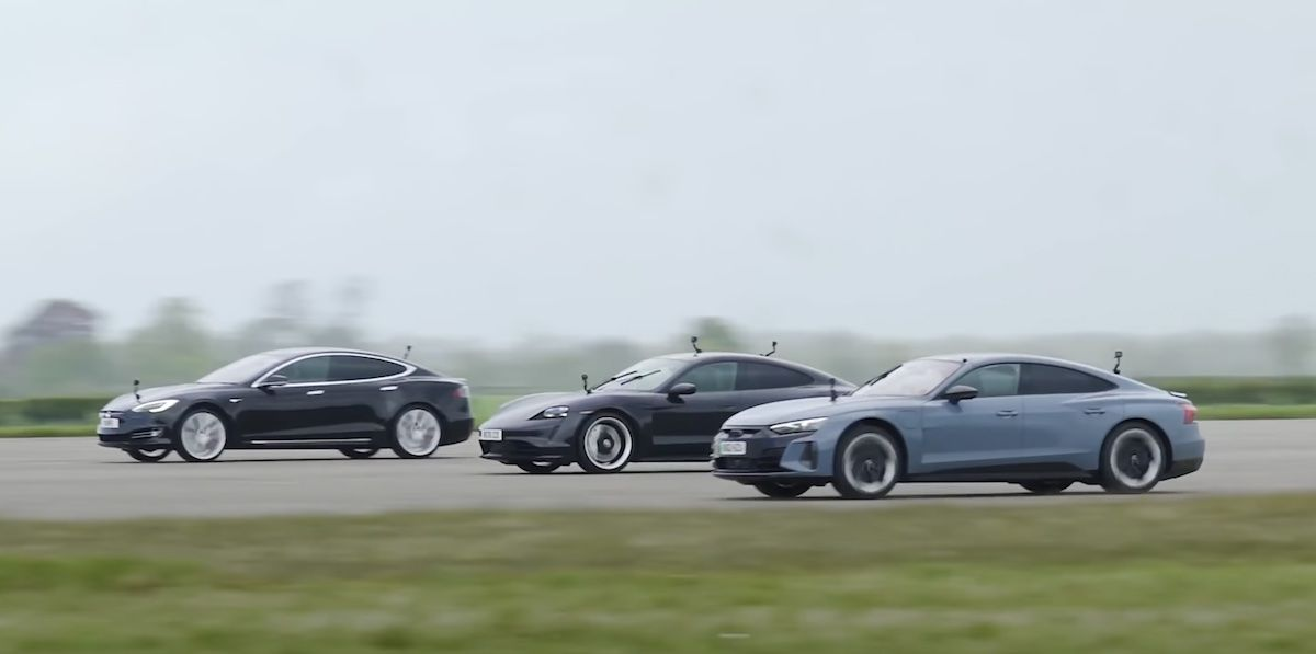Tesla Model S Performance vs. Audi RS e-tron GT vs. Porsche Taycan Turbo
