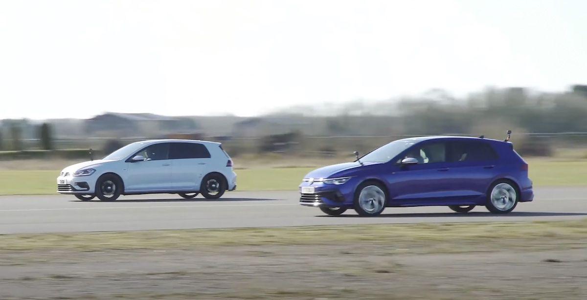 Volkswagen Golf 8 R vs Volkswagen Golf 7 R