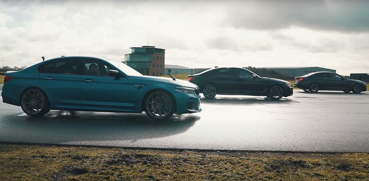 BMW M5 F90 dragrace