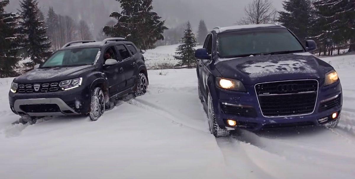 Dacia Duster dci Audi Q7 tdi