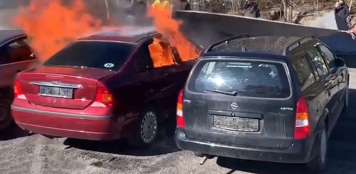 Ford Focus Sedan pożar