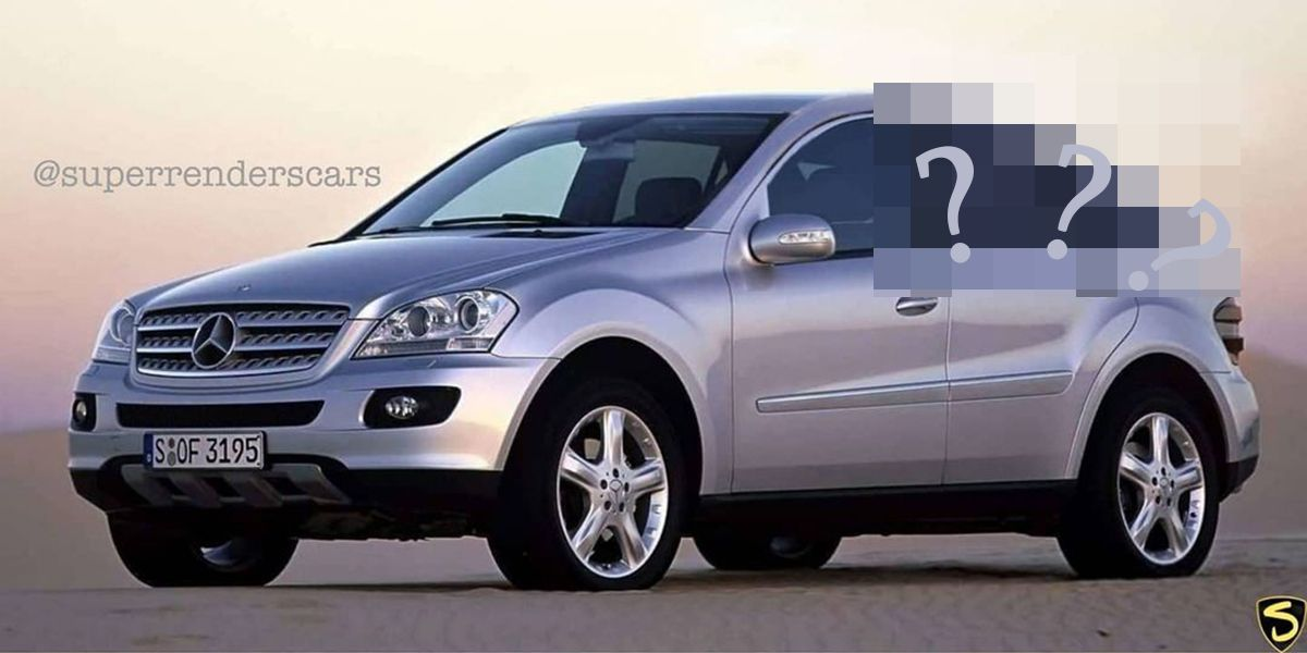 Mercedes-Benz ML Coupe W164 rendering