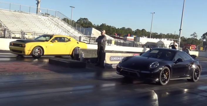 Dodge Challenger SRT Demon vs Porsche 911 Turbo S 992