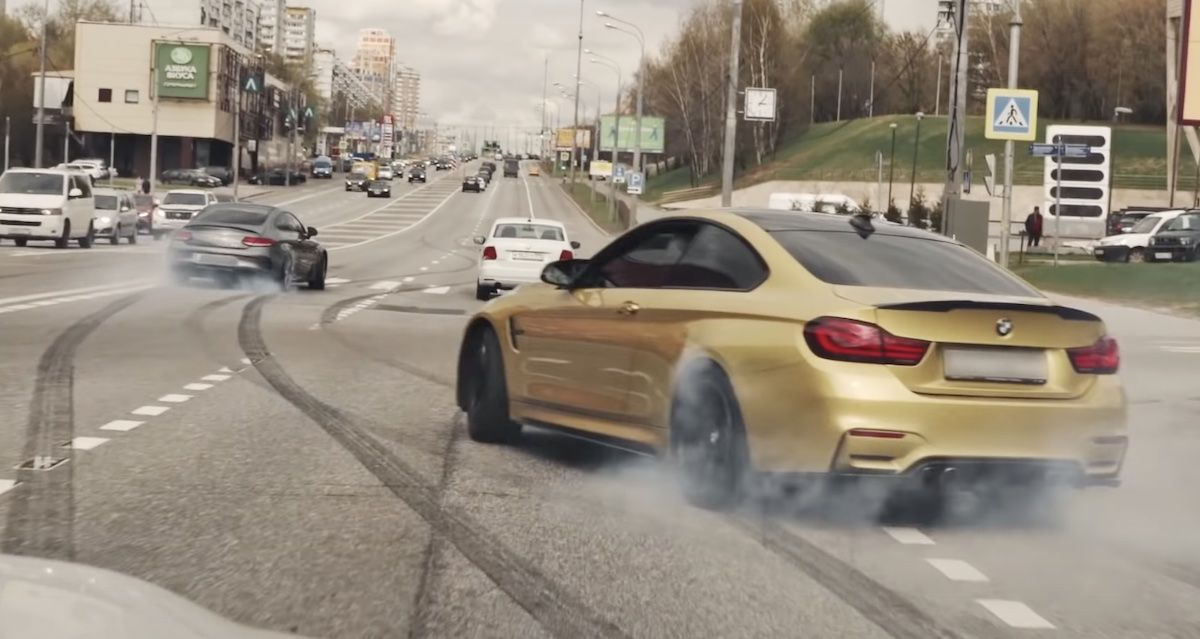 BMW M4 Coupe Mercedes-AMG C 63 S Coupe drift