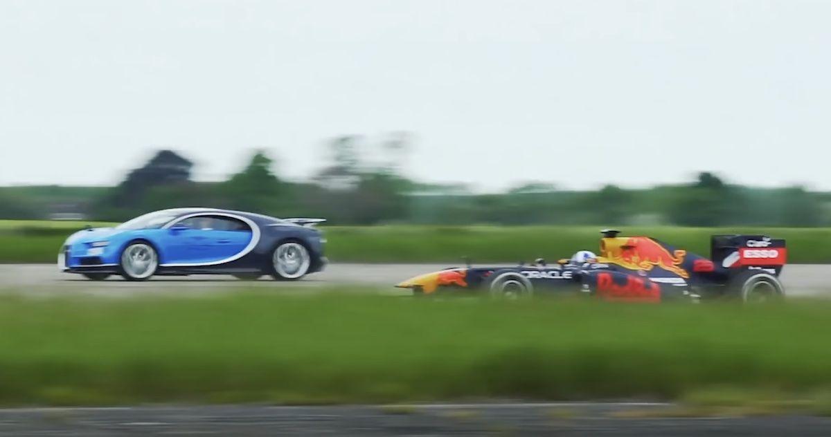 Bugatti Chiron Red Bull RB7 bolid F1