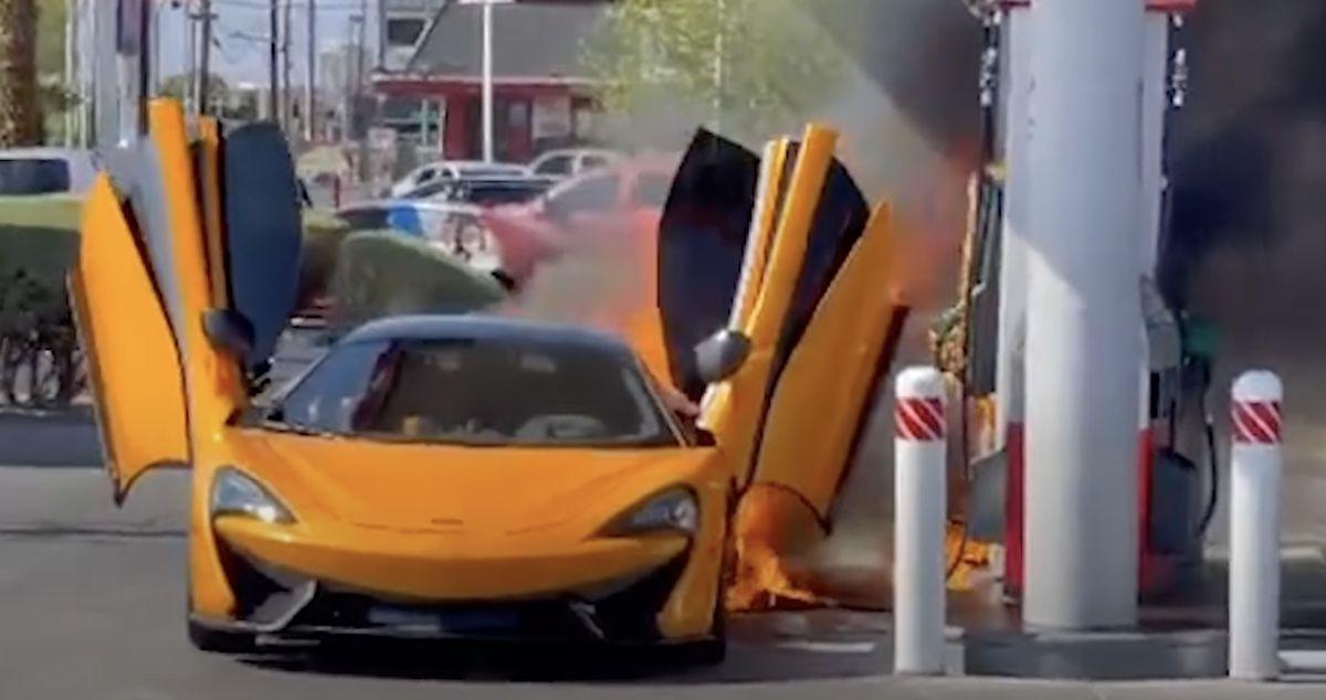McLaren 570S pożar