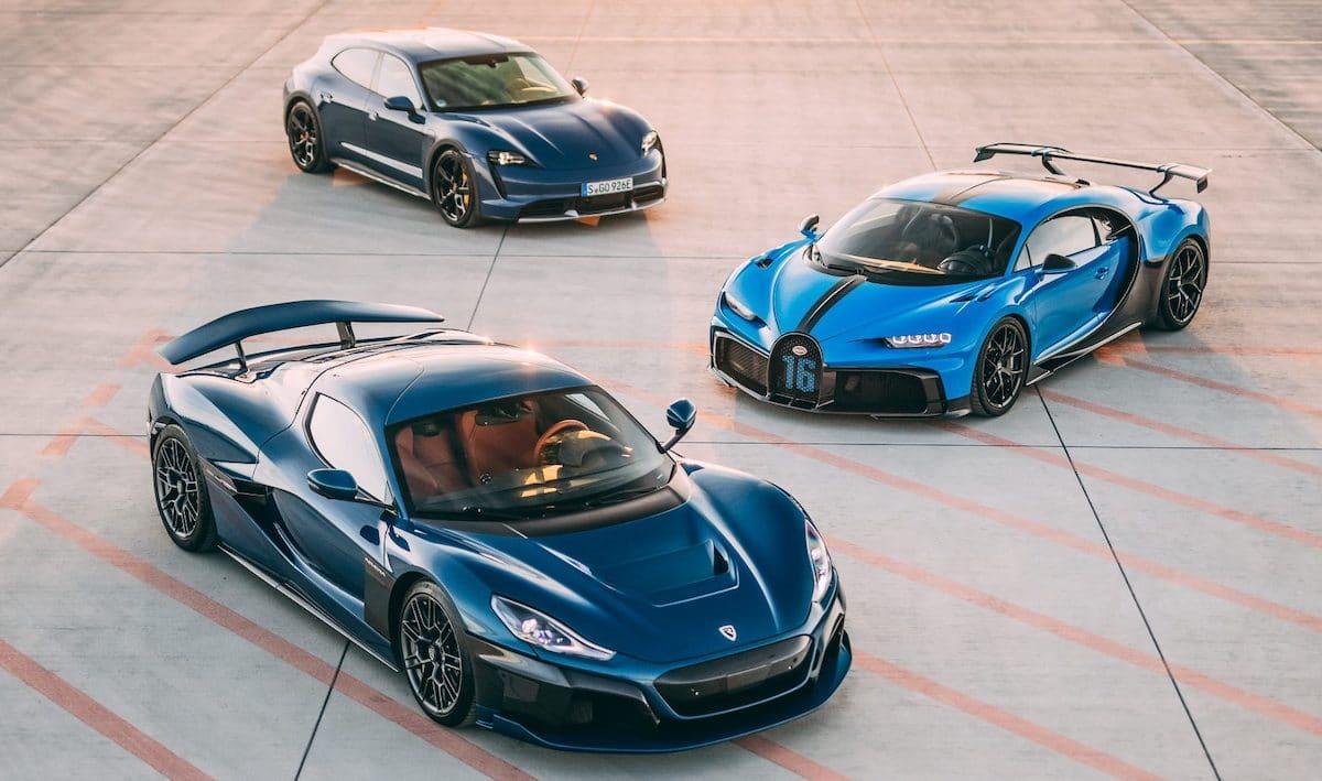 Bugatti Chiron Rimac Nevera Porsche Taycan