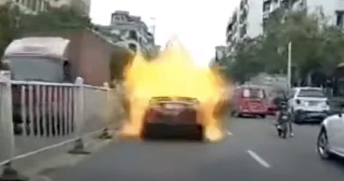 Toyota Camry LPG eksplozja