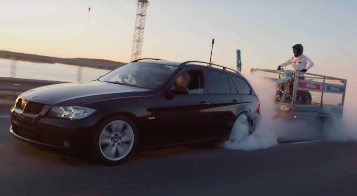 BMW 320d e91 palenie gumy