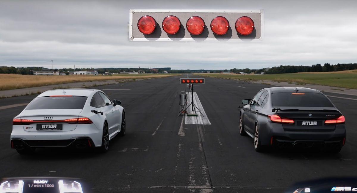 BMW M5 CS vs Audi RS7 Sportback