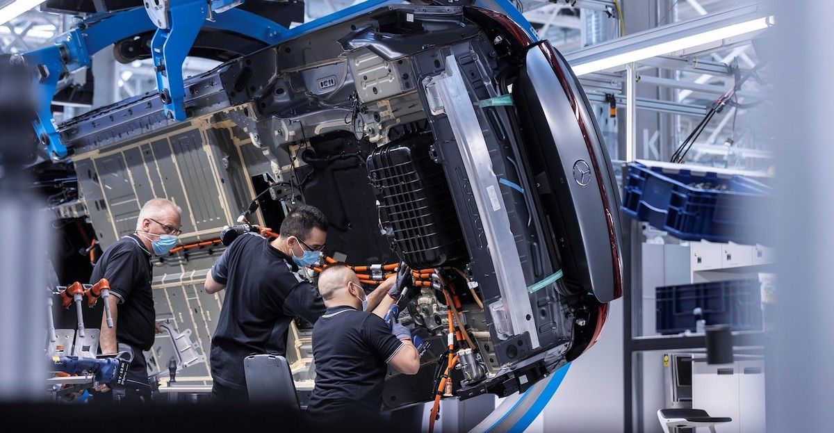 Mercedes-Benz EQS fabryka