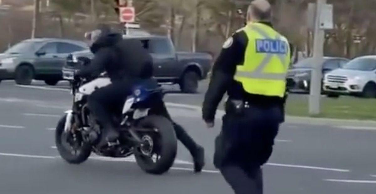 Motocykl pościg policja