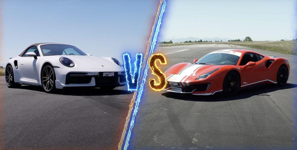 Porsche 911 Turbo S vs Ferrari 488 Pista