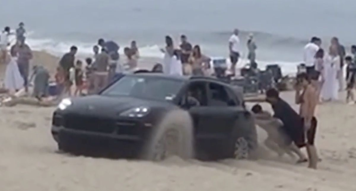 Porsche Cayenne plaża