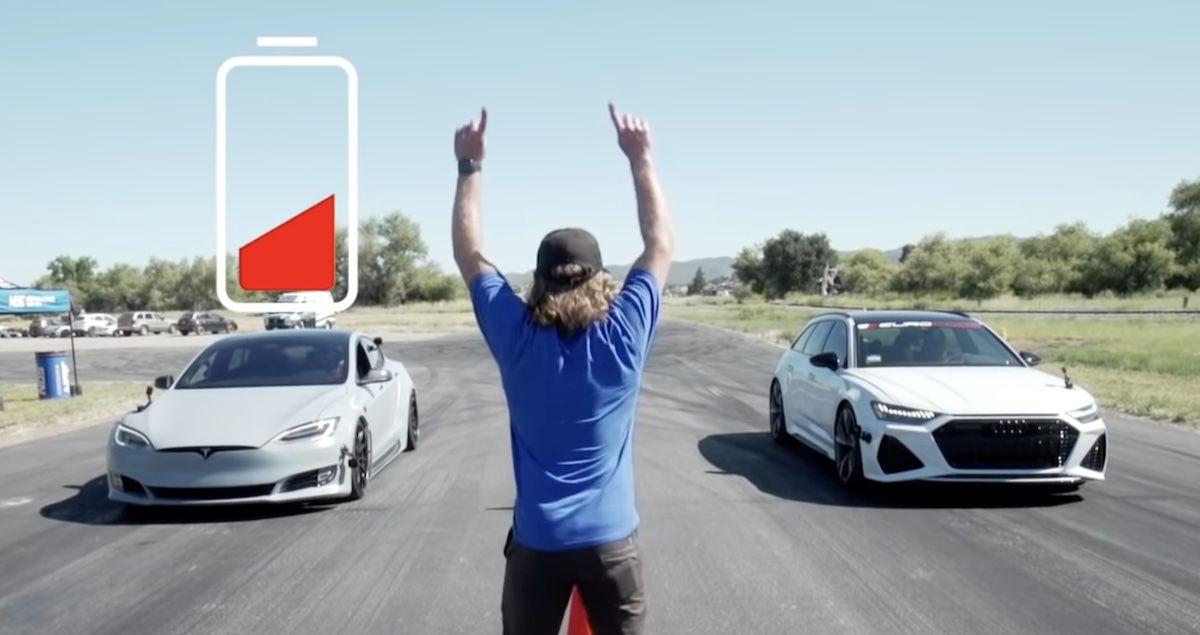 Tesla Model S vs Audi RS6