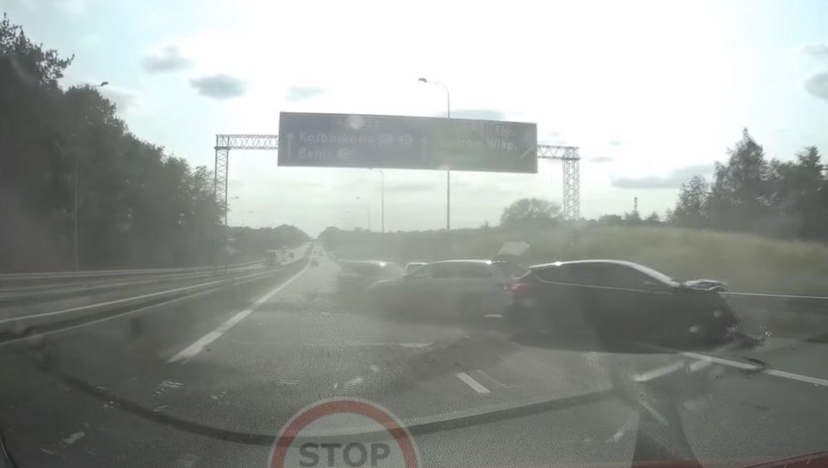 Wypadek A6 Szczecin