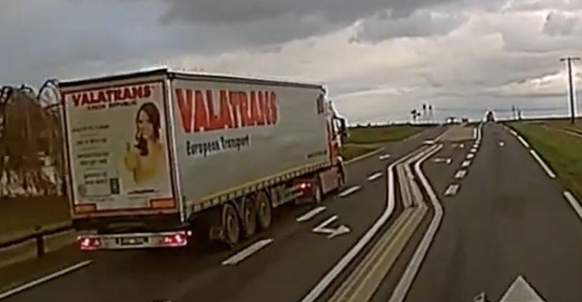 ciężarówka wyprzedzanie
