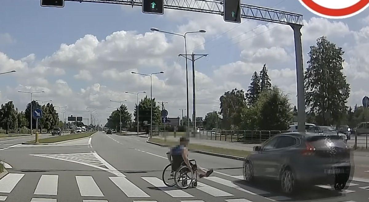 przejście dla pieszych inwalida