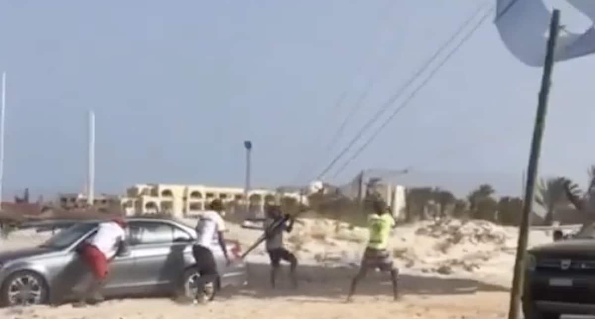 Mercedes benz Klasy C W204 plaża