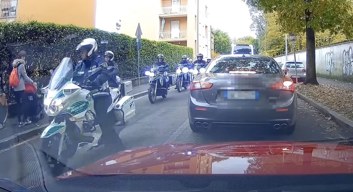 Maserati Quattroporte policja