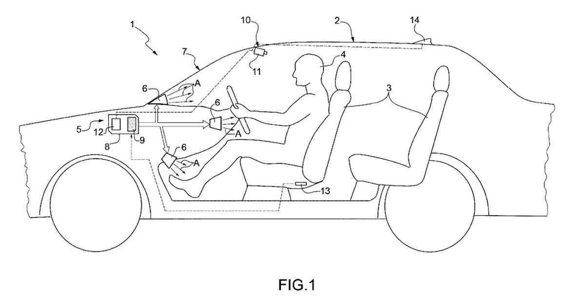 Patent ferrari klimatyzacja