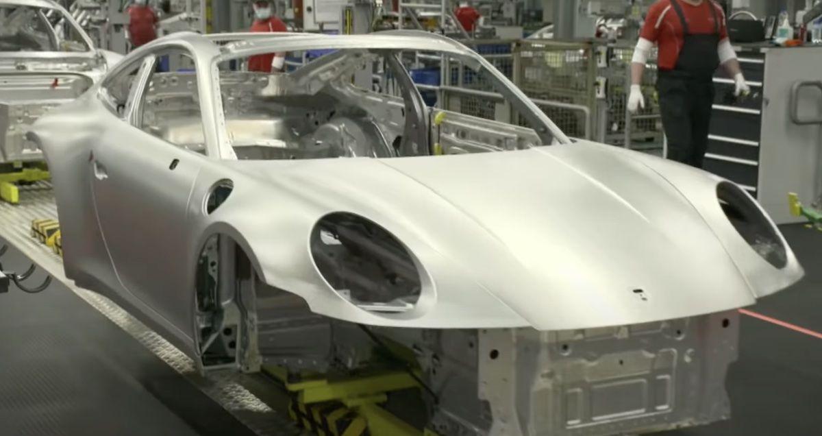 Porsche 911 992 produkcja
