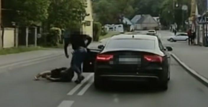 Kierowca Audi S5 vs. pijany pieszy