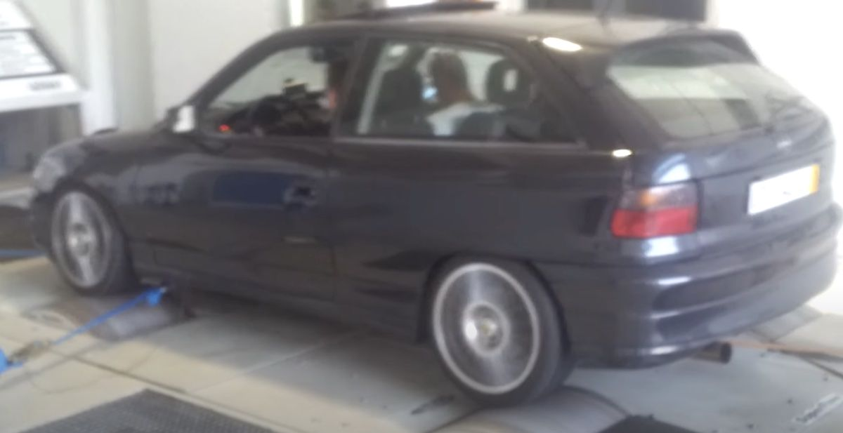 Opel Astra F na hamownii, 770 KM