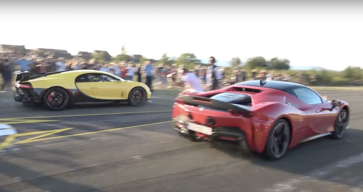 Bugatti Chiron Pur Sport Ferrari SF90 Stradale