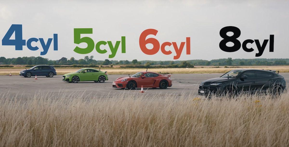 Lamborghini Urus Porsche 718 Cayman GT4 Audi TT RS Volkswagen Golf R 8
