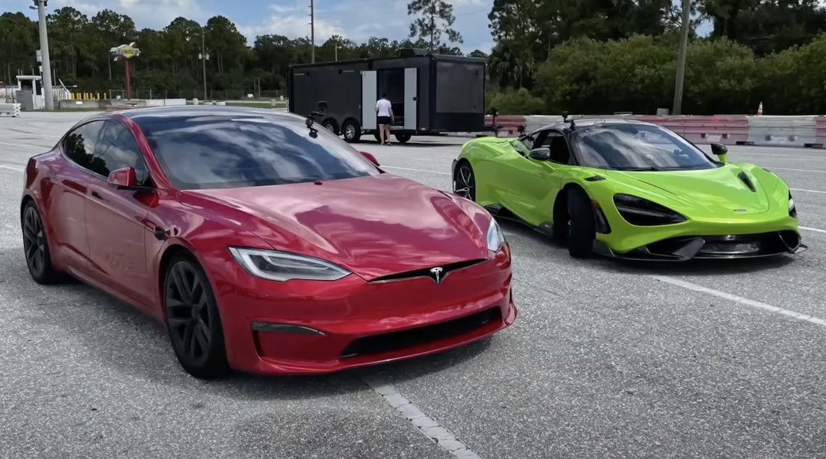 Tesla Model S Plaid McLaren 765LT