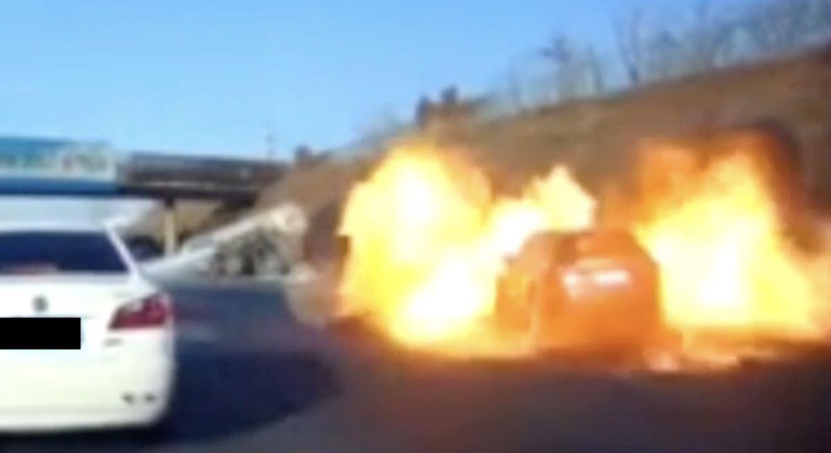 eksplozja samochodu