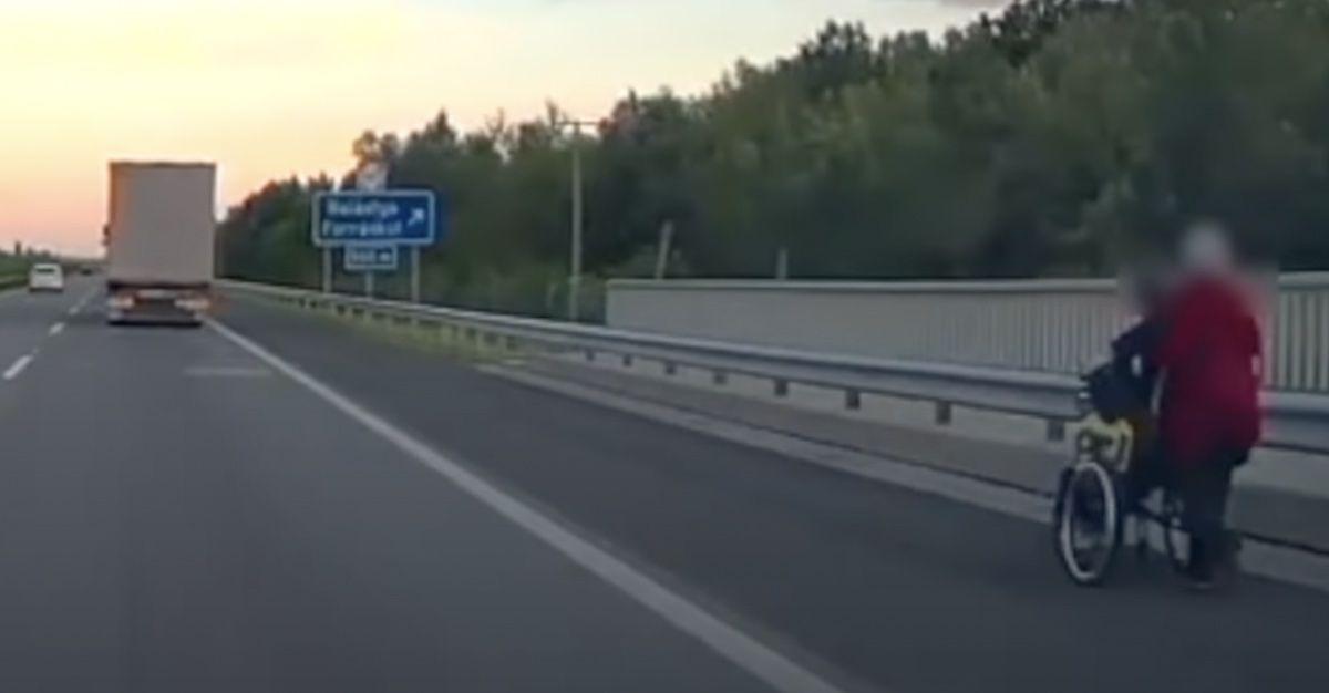 inwalida na autostradzie