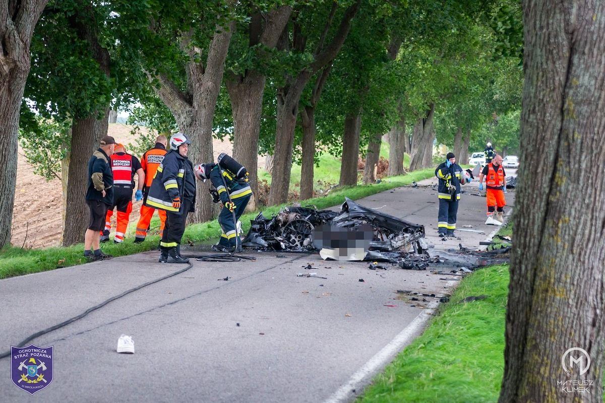 Porsche 911 wypadek