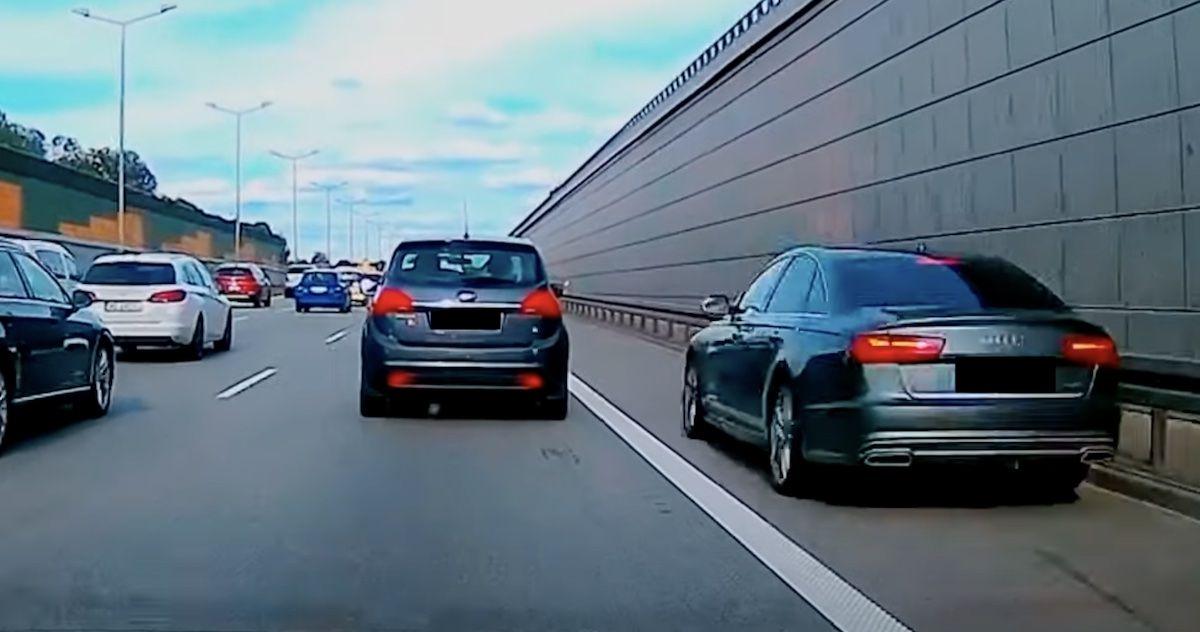 Audi A6 pobocze