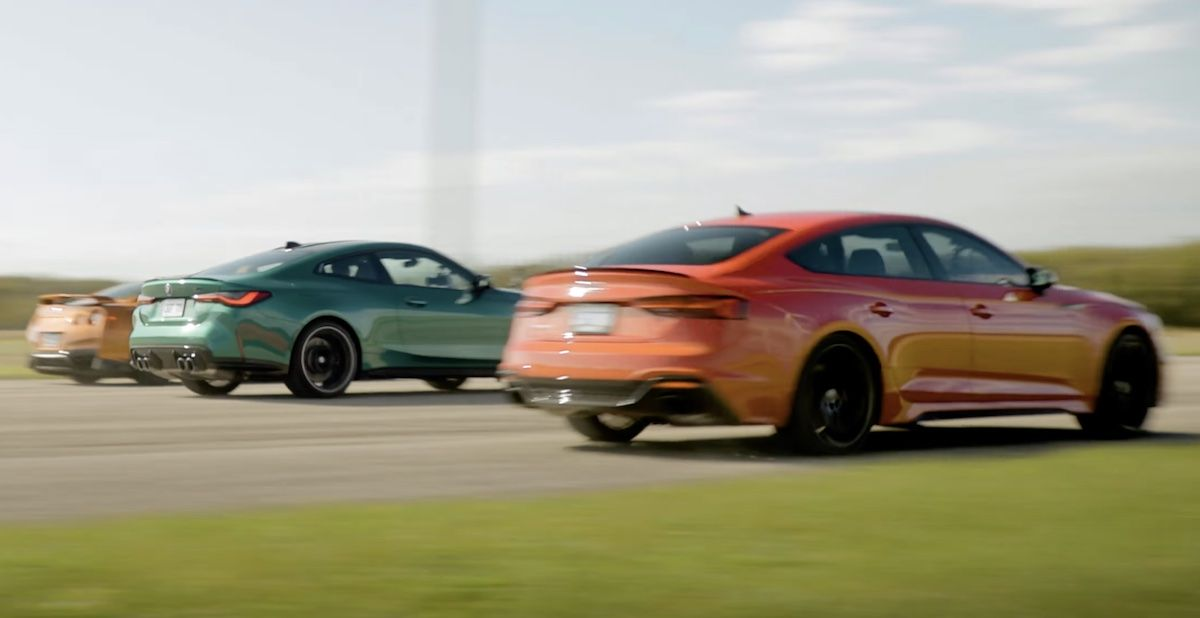 BMW M4 Competition xDrive Audi RS5 Nissan GT-R